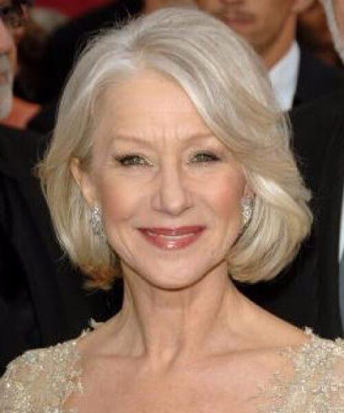 helen mirren hairstyles para mujeres mayores de 50 años