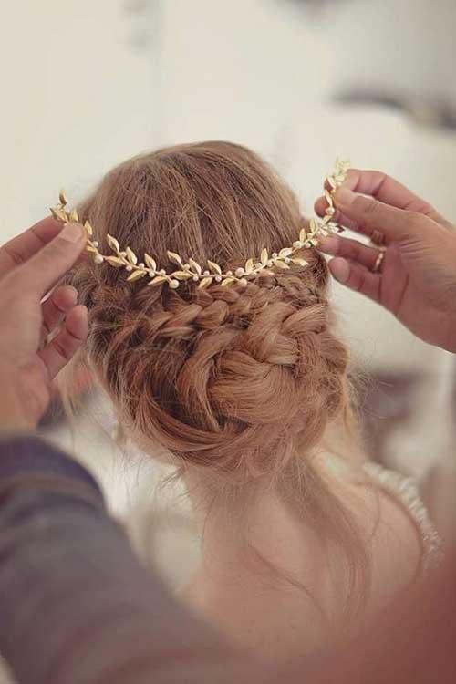 Accesorios para el cabello dorado para imágenes de boda