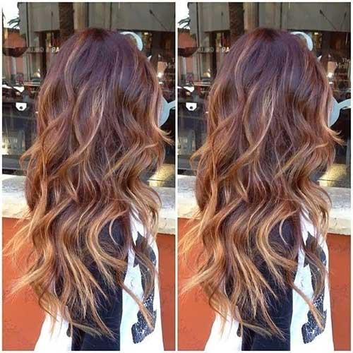 Ombre capas de pelo y destacados