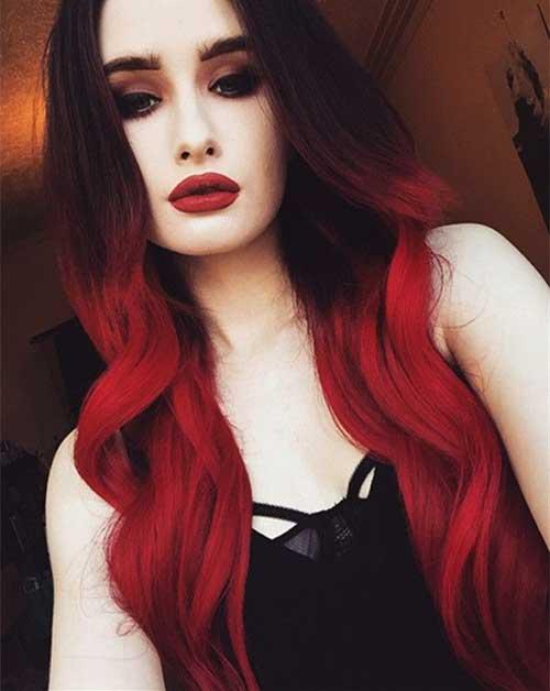 Estilos de color rojo del pelo