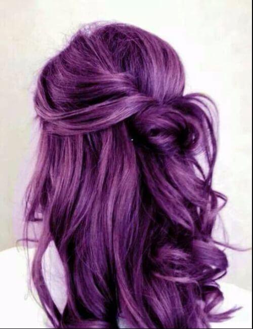 tono violeta de pelo morado