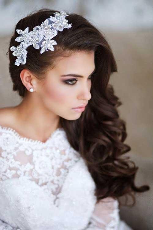 Estilos de cabello de la boda para cabello largo-14