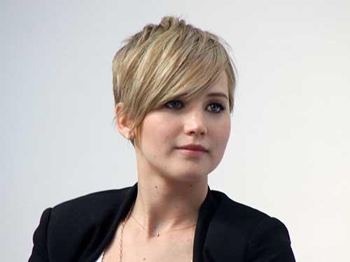 Jennifer Lawrence Pixie Cuts