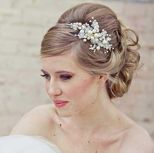 Peinado de la boda, pelo largo
