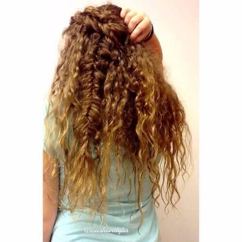 cabello largo ondulado trenzado cabello ondulado