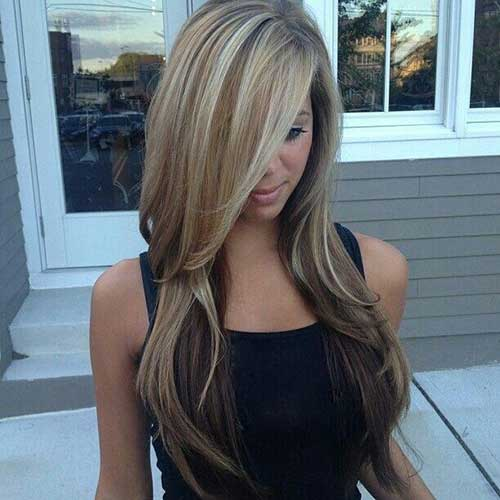 Balayage Hair Ash Blonde con capas