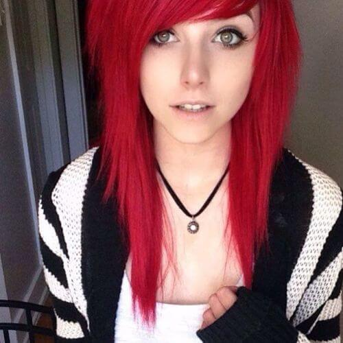 pelo rojo en capas