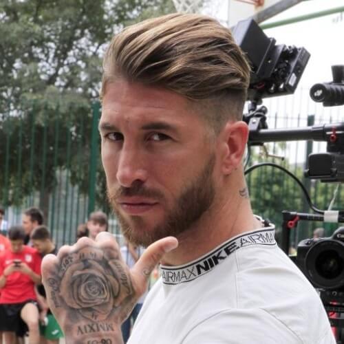 Barrido de espalda Sergio Ramos corte de pelo
