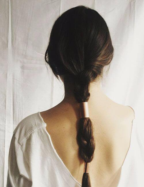 recortes de trenza adornados de alta costura para cabello largo
