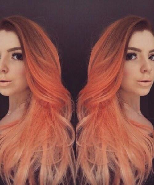 melocotón rojo ombre pelo