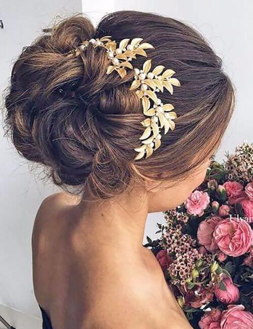 damas de honor peinados accesorios para el cabello