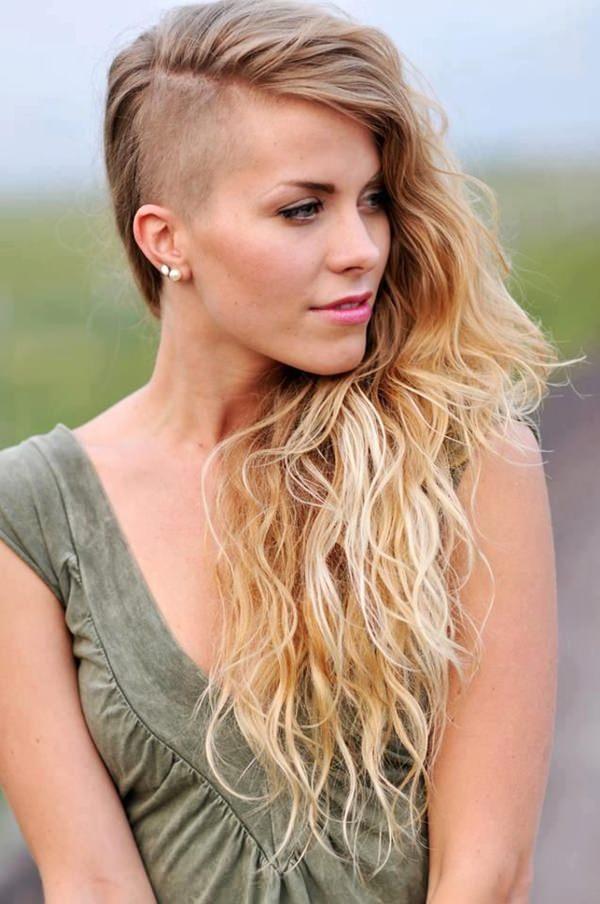 peinados afeitados para mujeres