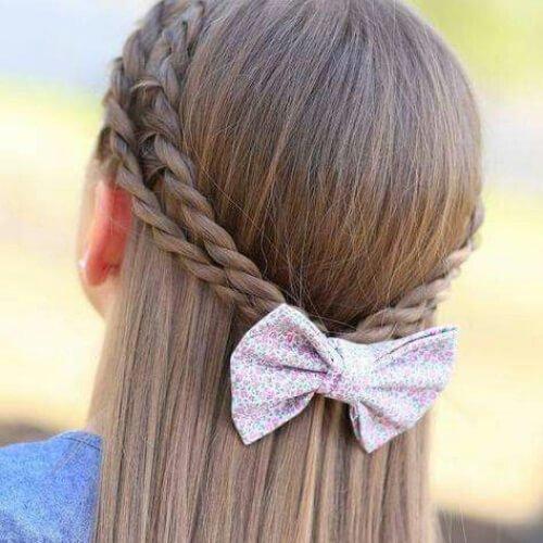 peinados trenza de proa para el pelo largo