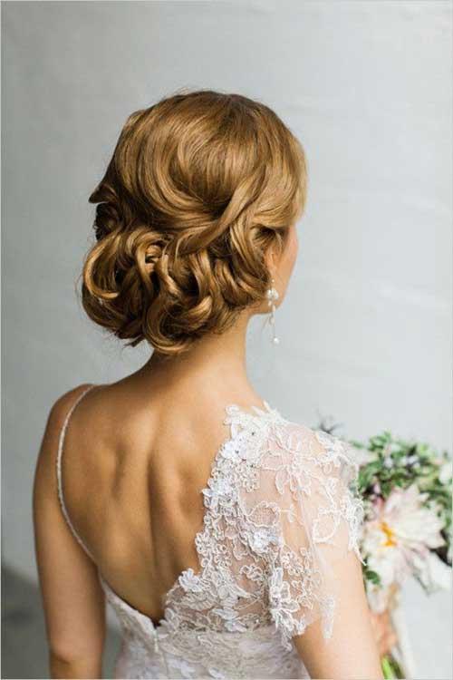 Estilo de pelo de la boda  de detalles de la espalda