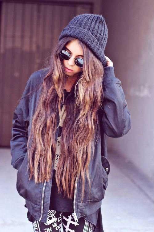 Moda morena pelo extralargo
