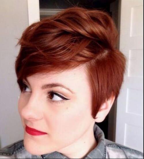 color de pelo castaño corto