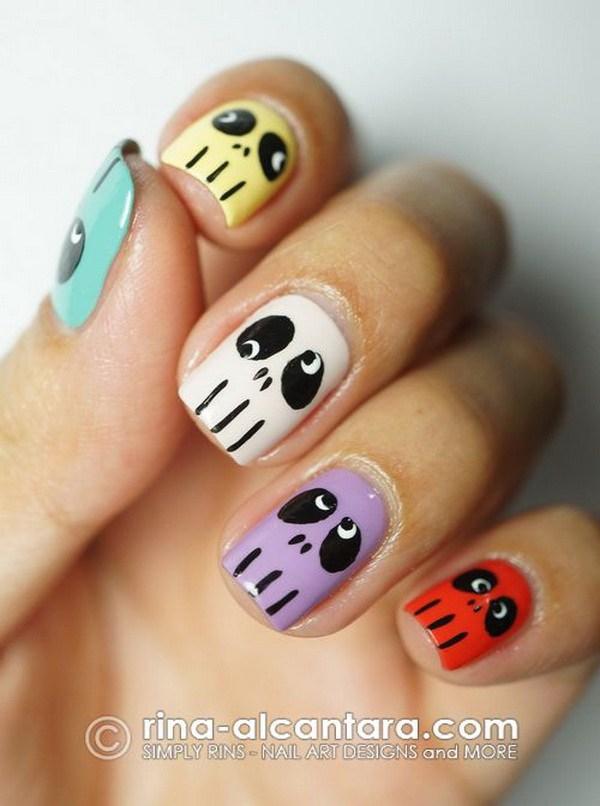 Ideas de arte de uñas de Halloween.