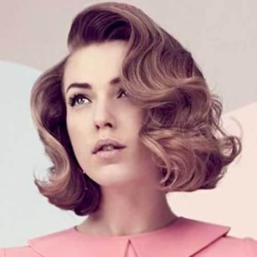 peinados de baile retro rizos para el pelo corto