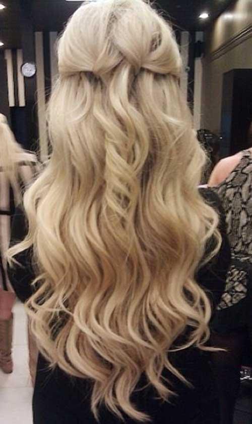 Mejor cabello largo y rubio desde la parte posterior
