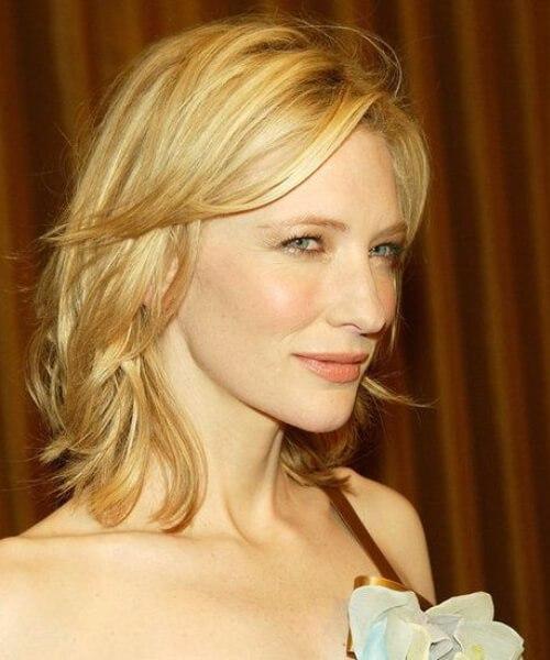 Cate Blanchett en capas bob
