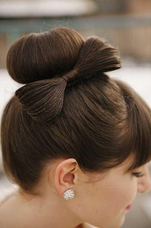 Hair Bow Peinados de boda Updos Bun