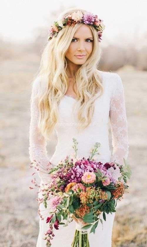 Estilos de cabello de la boda de la playa de Crown