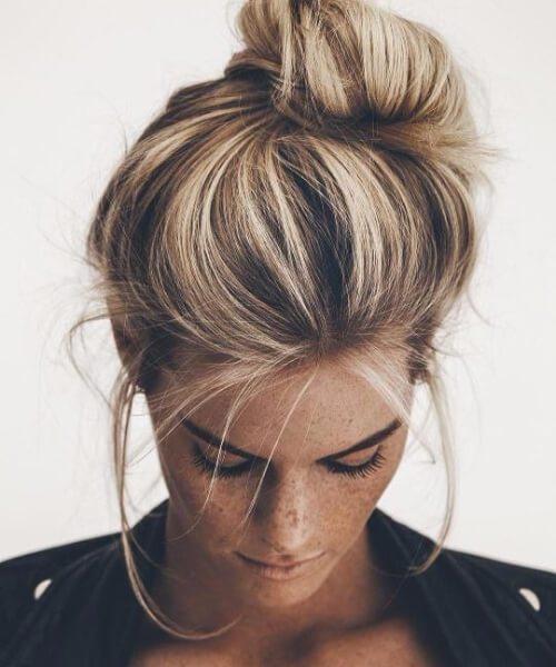 peinados asimétricos nudosos para el cabello fino