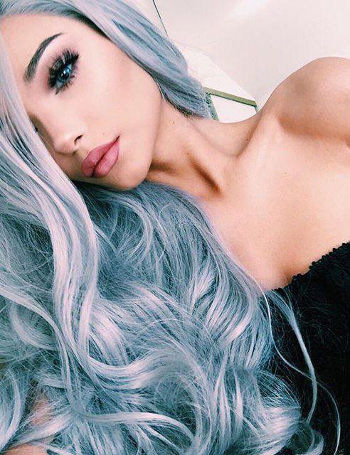 pelo gris turquesa