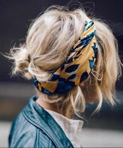 peinados para el pelo fino pañuelo