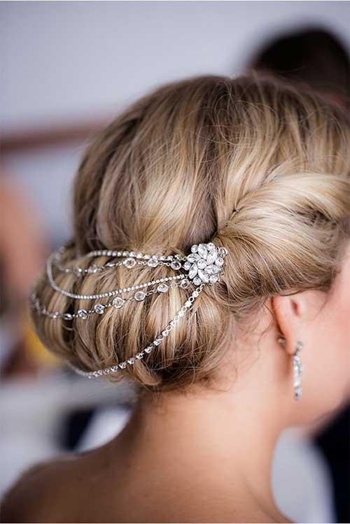 Hermosas piezas de cabello nupcial Magnificient