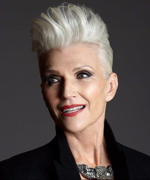 peinados falsa mohawk para mujeres mayores de 50 años