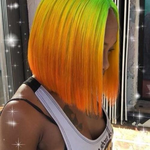 peinados ombre bob para mujeres negras