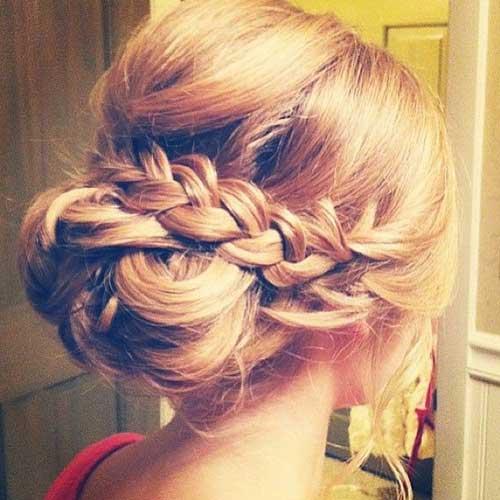 Peinados de boda pelo largo updos trenzado