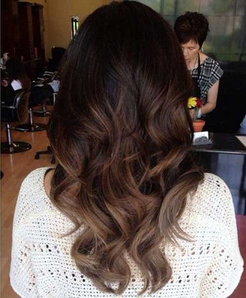 Peinados largos marrones oscuros-20