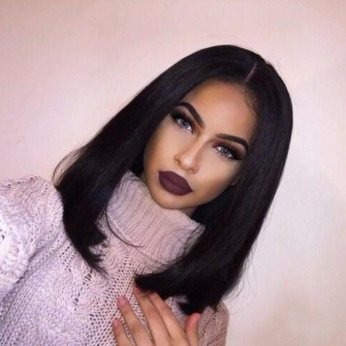 Peinados largos bob de los años 90 para mujeres negras