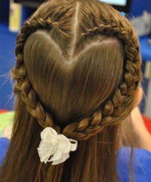peinados de niña de corazón