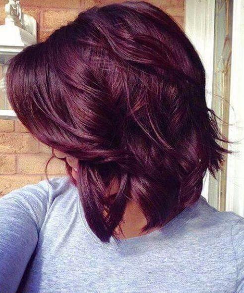 color de pelo de otoño púrpura real