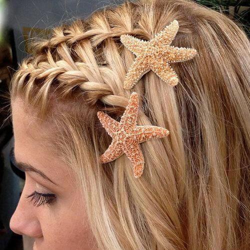 peinados de novia rubia de playa