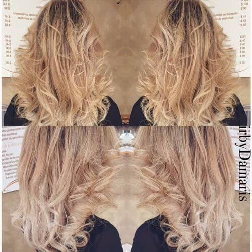 peinados ondulados para mujeres