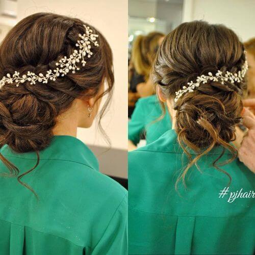 accesorio para el cabello floral peinado de la boda