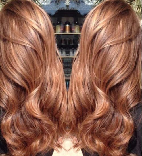 caramelo color castaño dulce del pelo