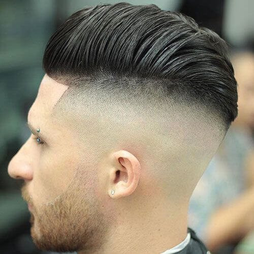 Skin Fade Undercut Hairstyle Hombres