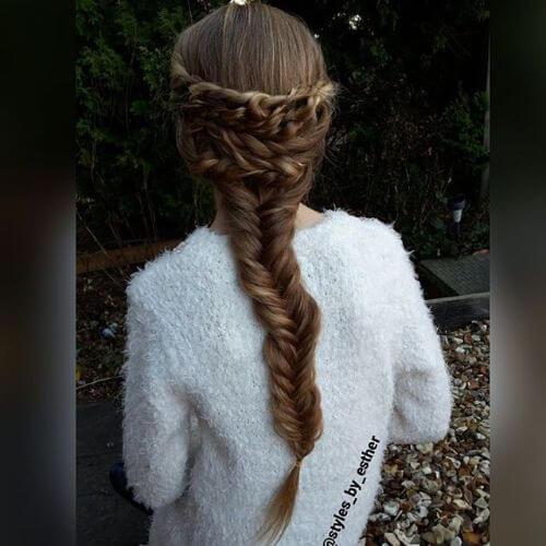 peinados naturales trenzados para niñas pequeñas