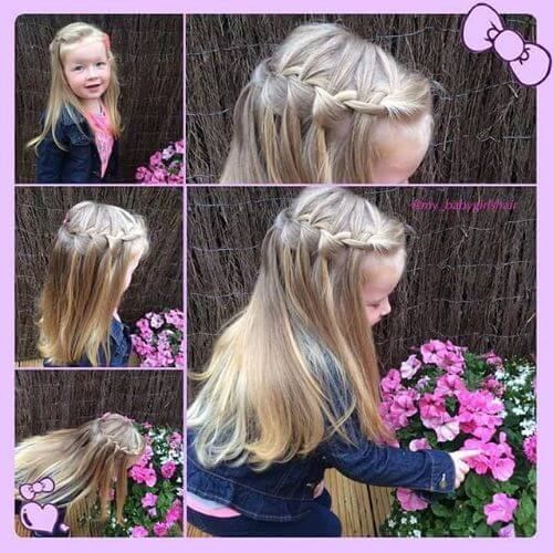 peinado natural trenzado para niñas