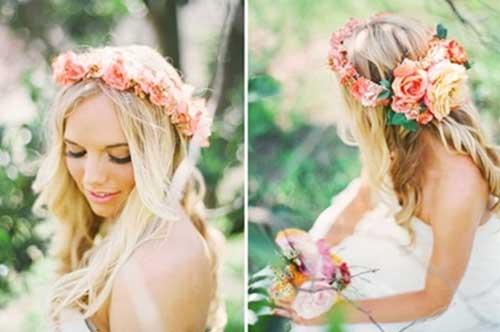 La mejor corona de flores nupcial más bonita