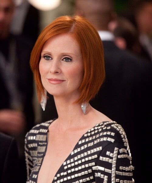 Peinados cynthia nixon para mujeres mayores de 40 años