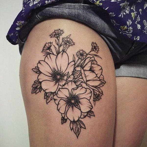 Tatuaje floral antiguo.