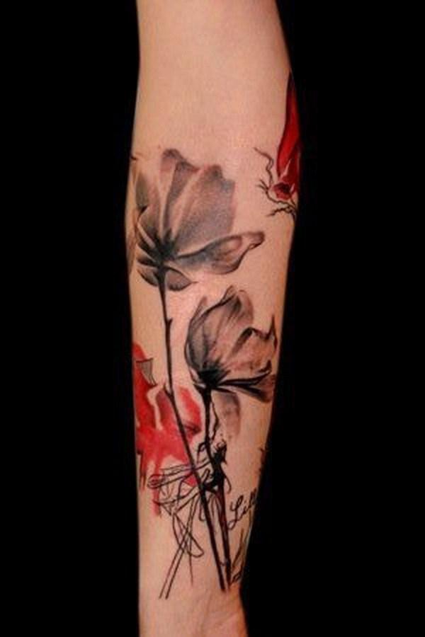 Entonces bonito tatuaje floral.