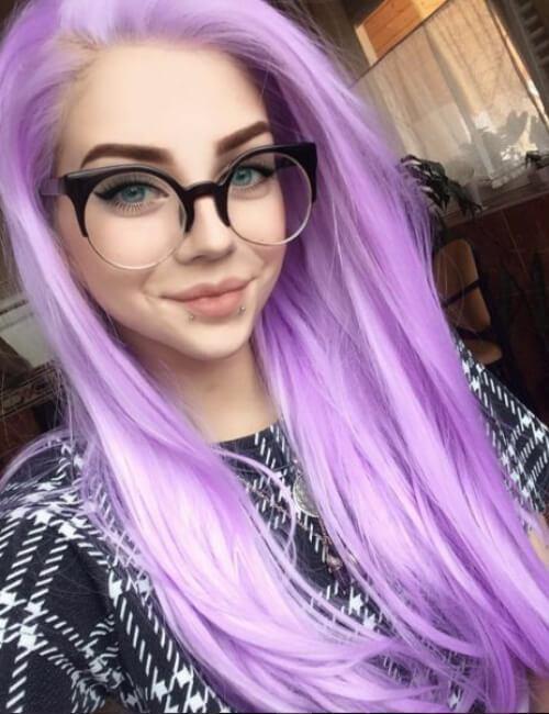 sombra del iris del pelo morado