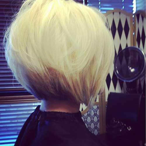 Lindo platino Bob y cortes de pelo